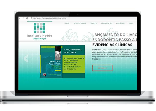 Otimização de Sites - Criação de Sites em Curitiba - Brain In - Ideias Inteligentes - Web Sites - Sistemas Web - Lojas Virtuais - Curitiba e Região Metropolitana Instituto Noble - Odontologia Especializada