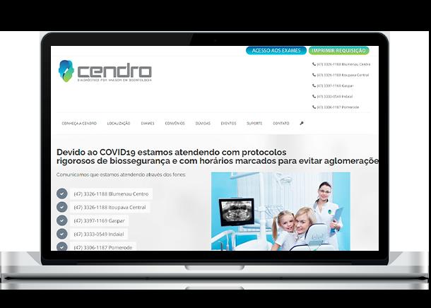 Otimização de Sites - Criação de Sites em Curitiba - Brain In - Ideias Inteligentes - Web Sites - Sistemas Web - Lojas Virtuais - Curitiba e Região Metropolitana Cendro - Radiologia